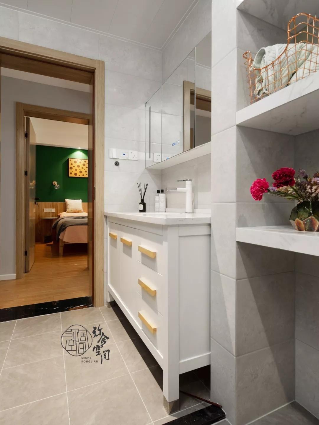 96平米三居室洗手台装修效果图