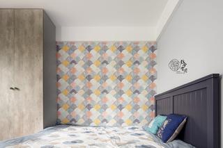 96平米三居室装修儿童房壁纸设计