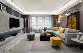 170㎡现代简约客厅装修效果图