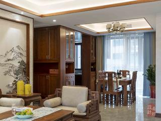140㎡中式风格餐厅装修效果图