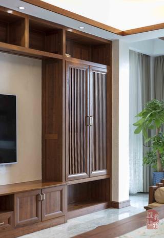 140㎡中式风格装修电视柜设计