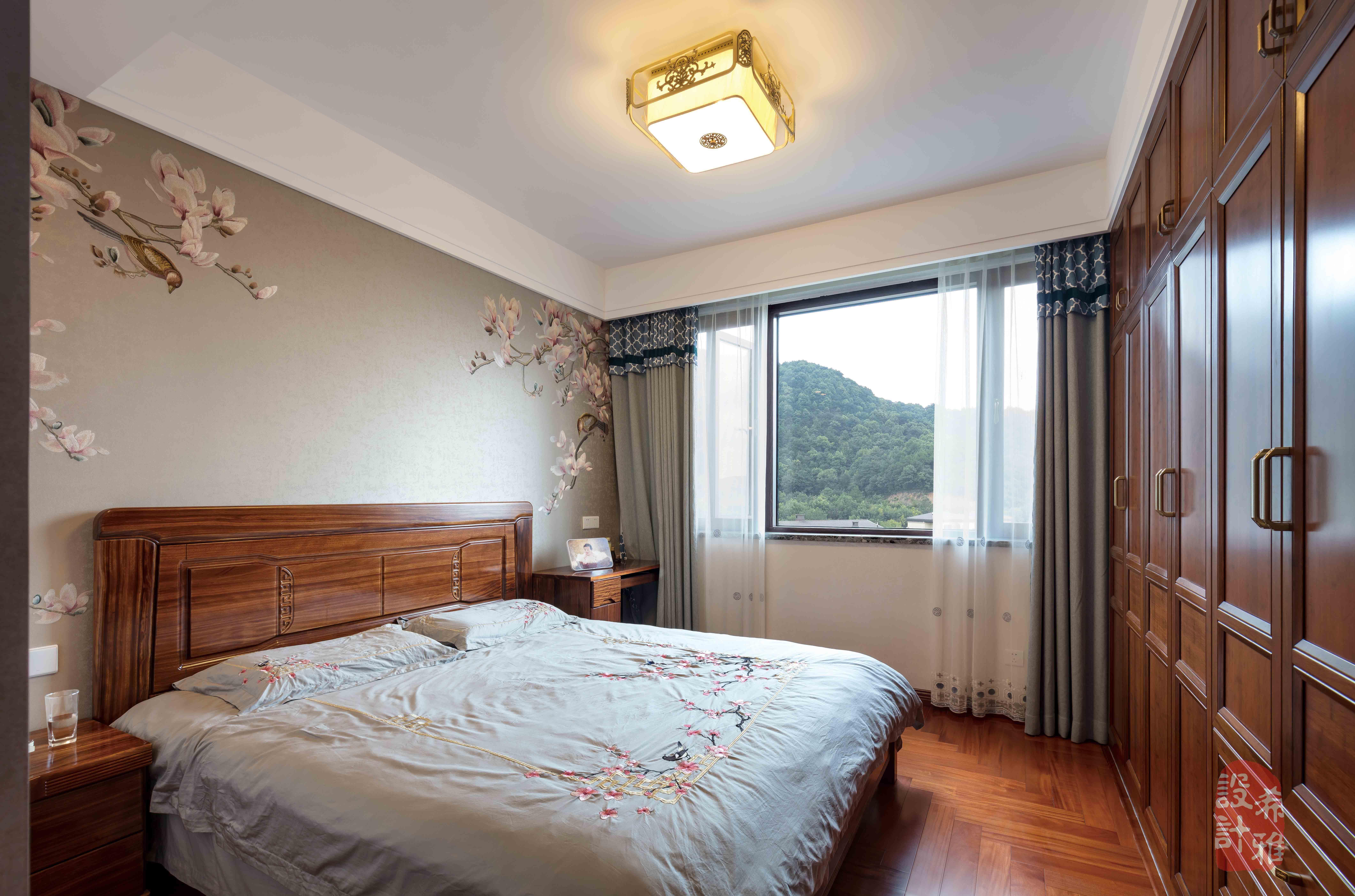 140㎡中式风格卧室装修效果图