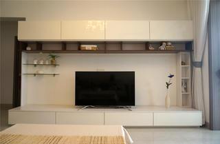 混搭风两居装修电视柜设计图