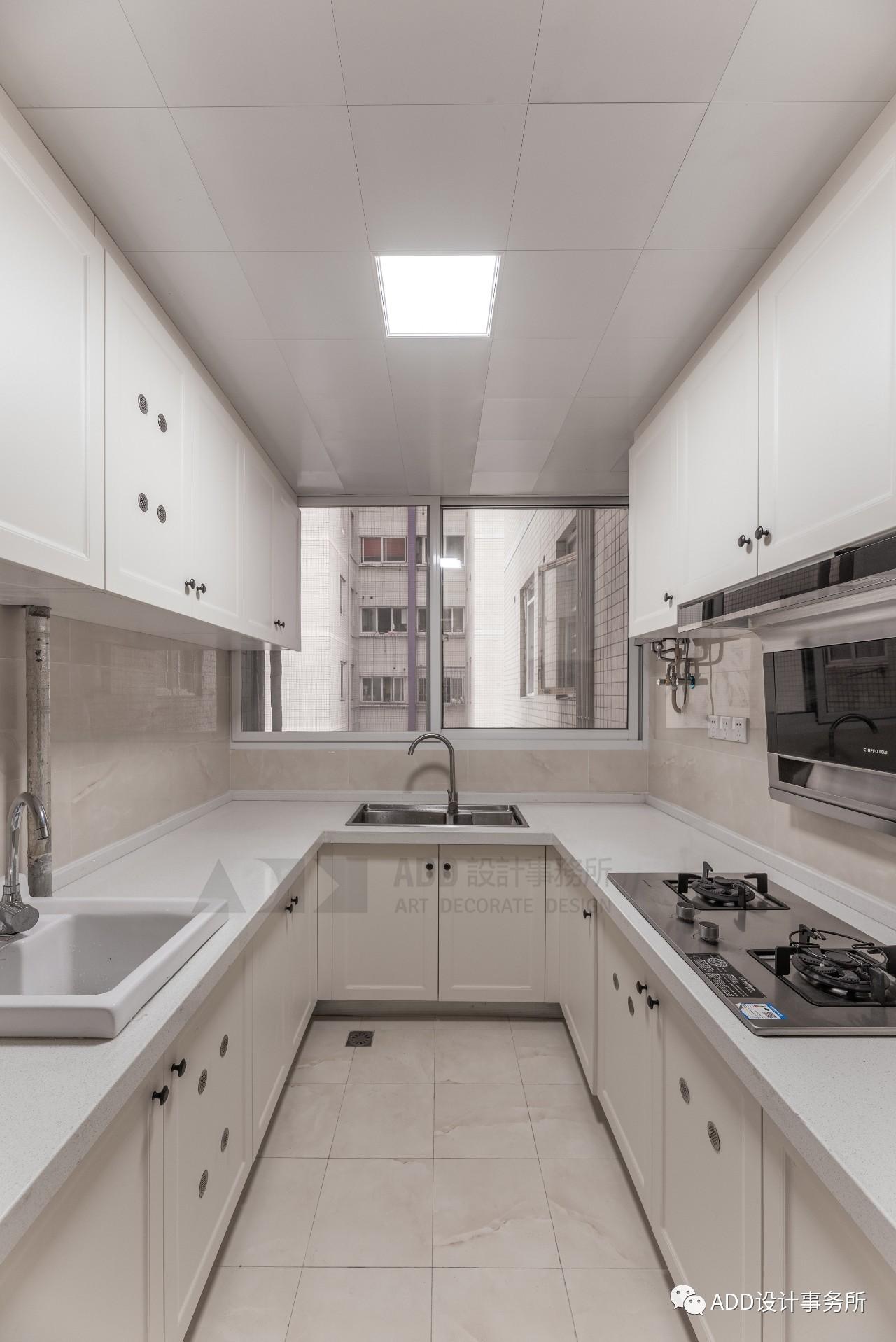 现代美式三居厨房装修效果图