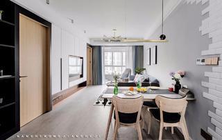 北欧风格三居室客餐厅国国内清清草原免费视频