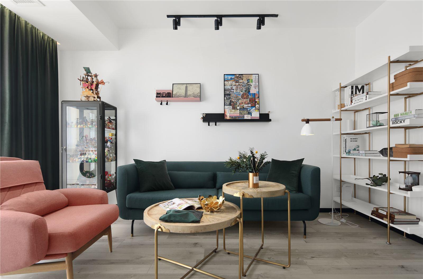 90平米两居室客厅装修效果图