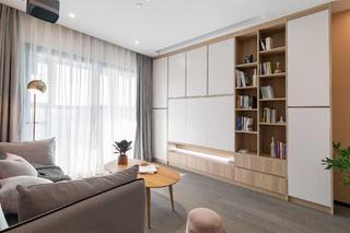 72㎡两居室装修书柜墙设计