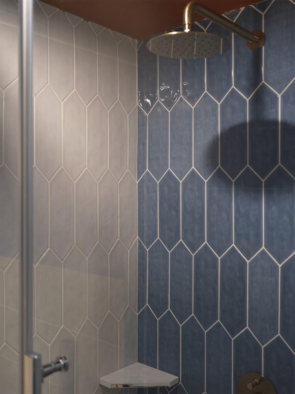 小户型一居室装修几何瓷砖设计