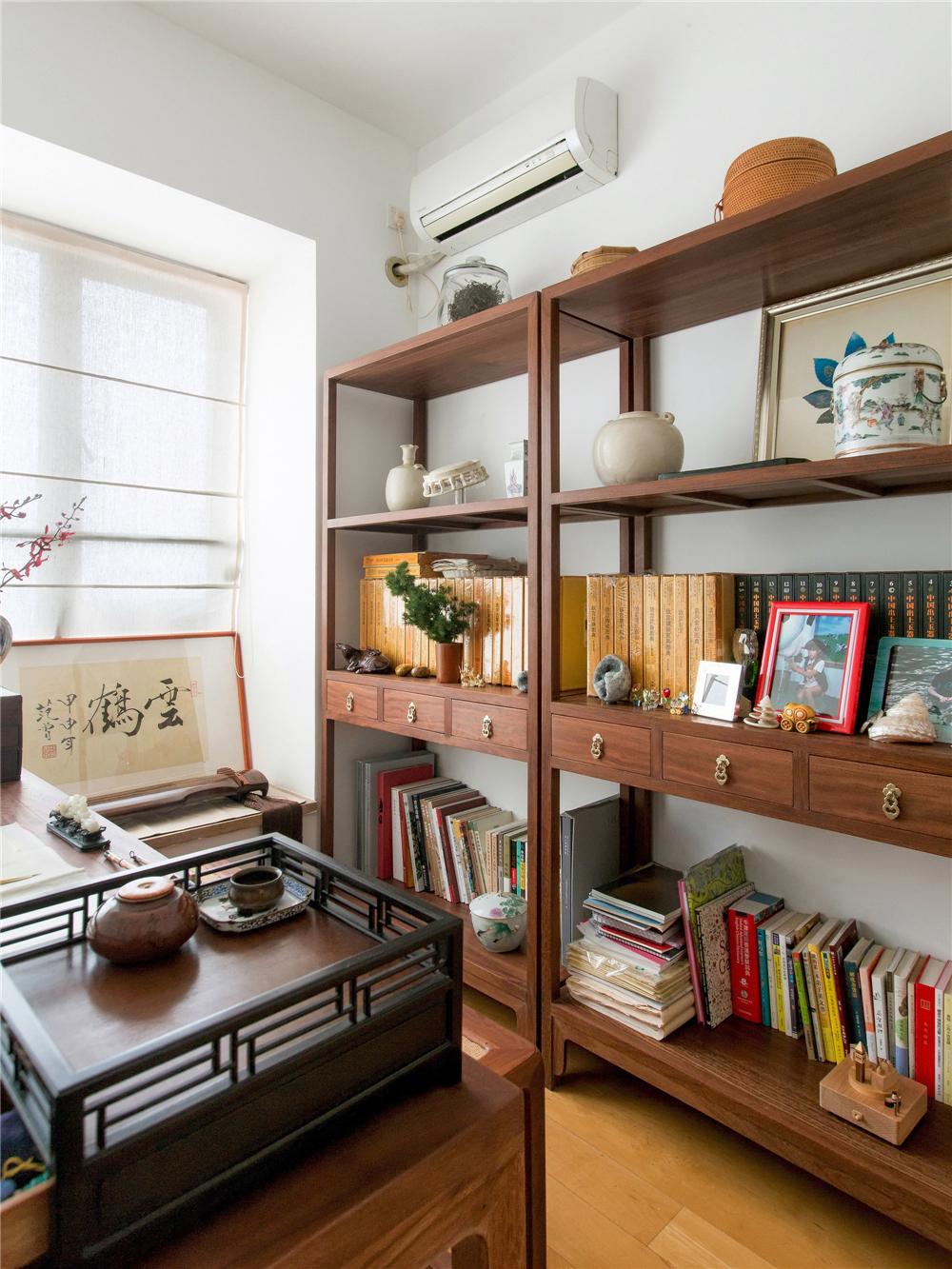 80㎡中式风格书房装修效果图