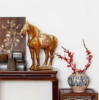 80㎡中式风格装修饰品摆件特写
