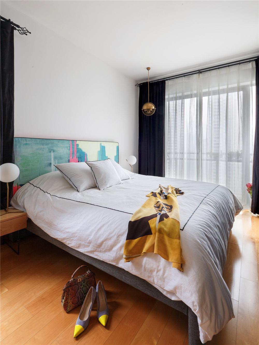 80㎡中式风格卧室装修效果图
