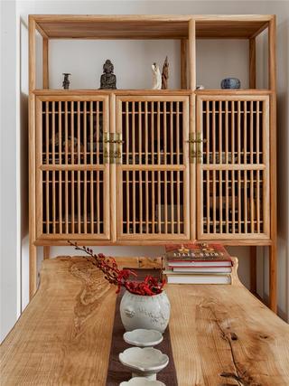 80㎡中式风格装修装饰柜设计