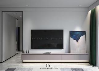 现代极简三居电视背景墙装修效果图