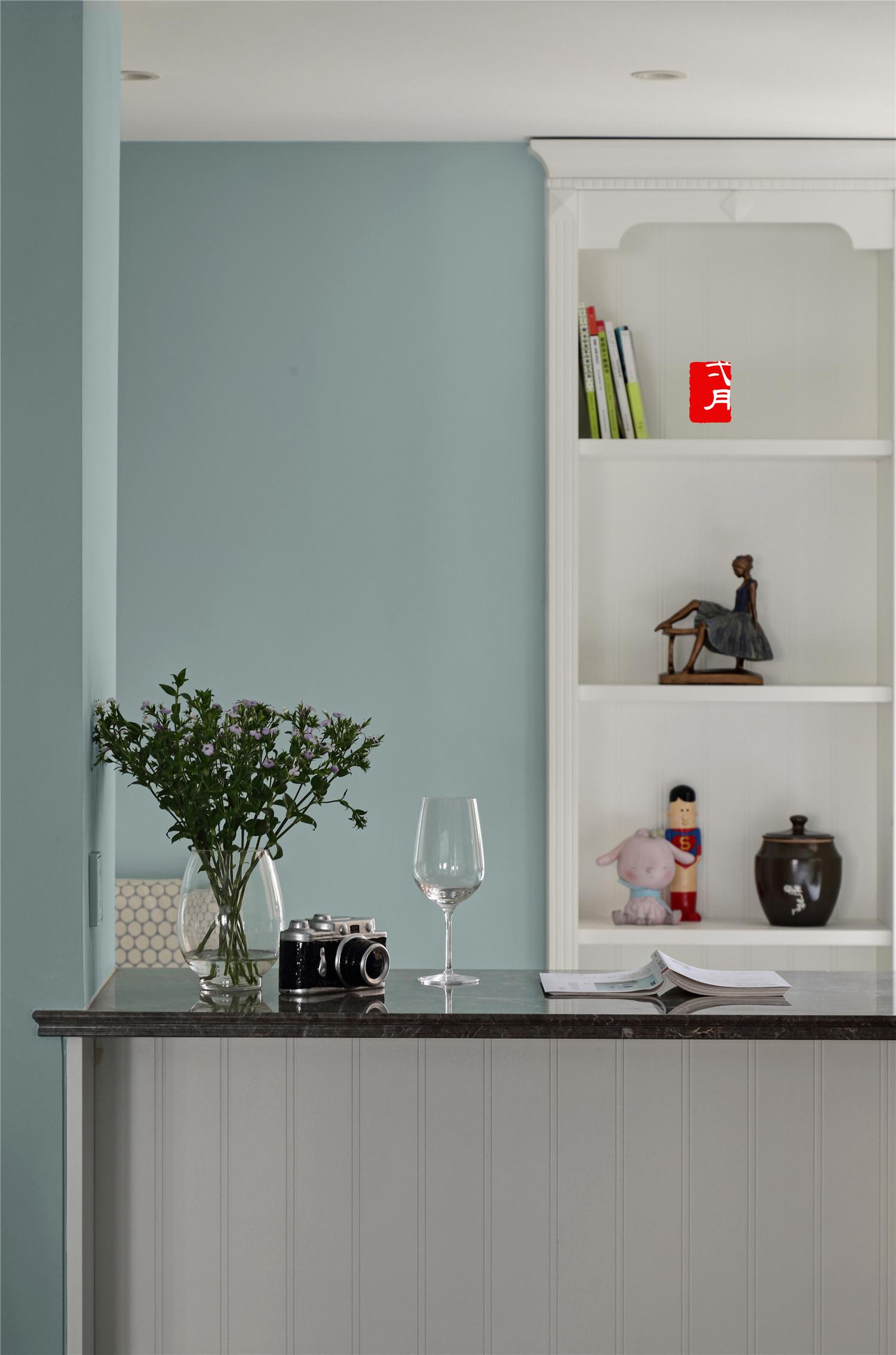 美式风格三居装修吧台设计图