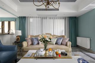 美式风格三居装修沙发设计图