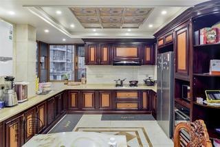 大户型经典美式风厨房装修效果图