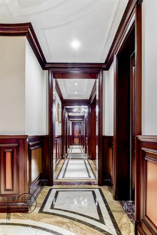大户型经典美式风走廊装修效果图