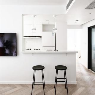 55㎡小户型两居装修吧台设计