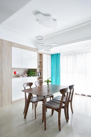 140平米三居室餐廳裝修效果圖