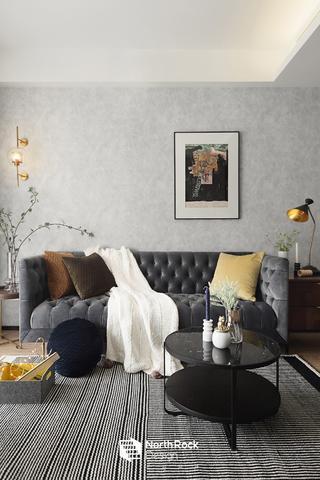 106㎡混搭风格沙发背景墙装修效果图