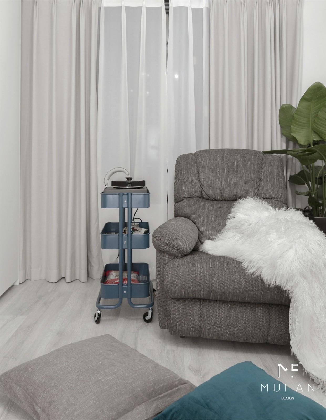 100平米北欧风格装修单人沙发设计
