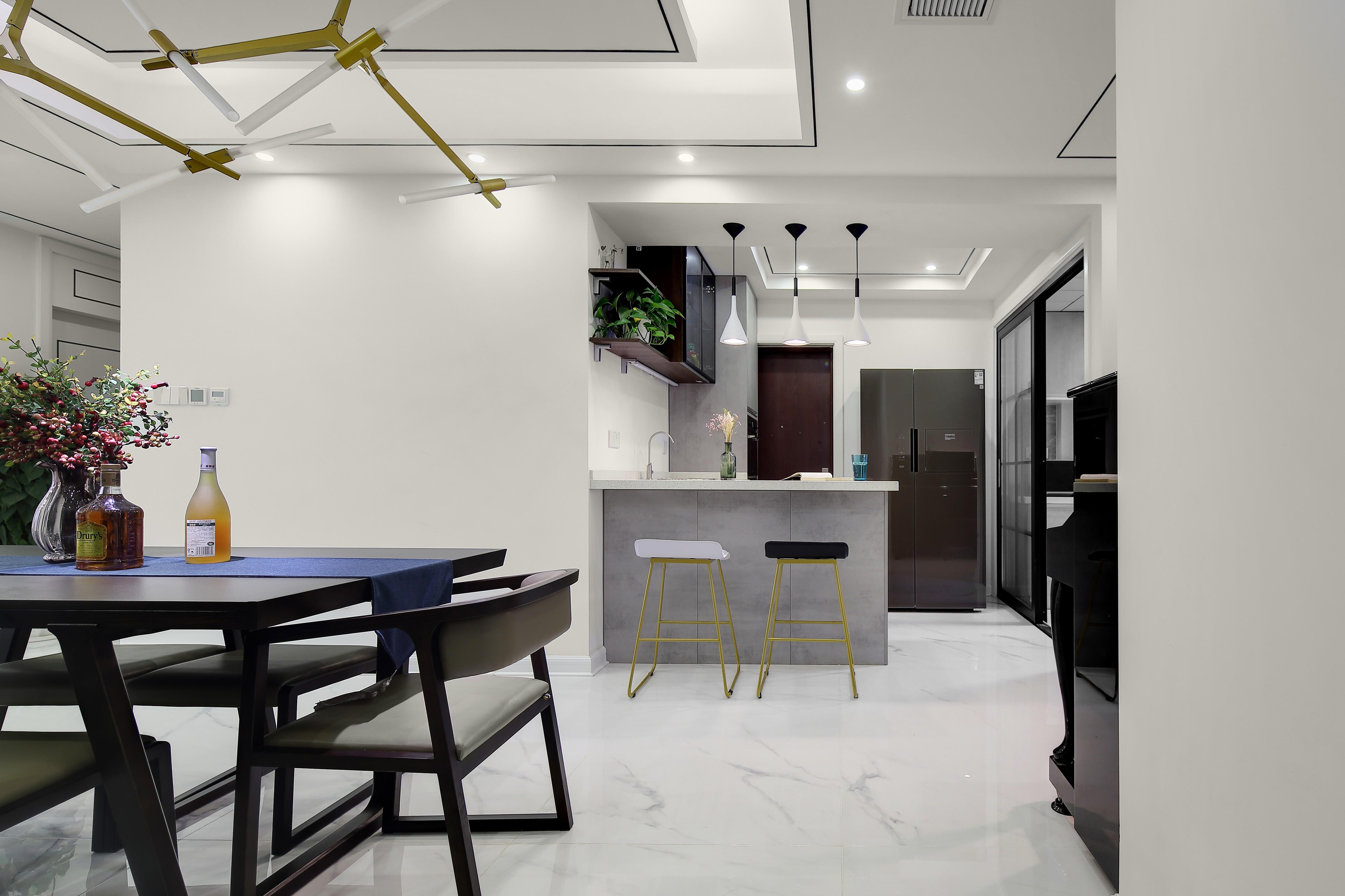 178平现代简约风格装修餐厅吧台设计