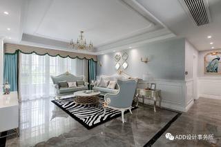 法式风格四居室客厅装修效果图