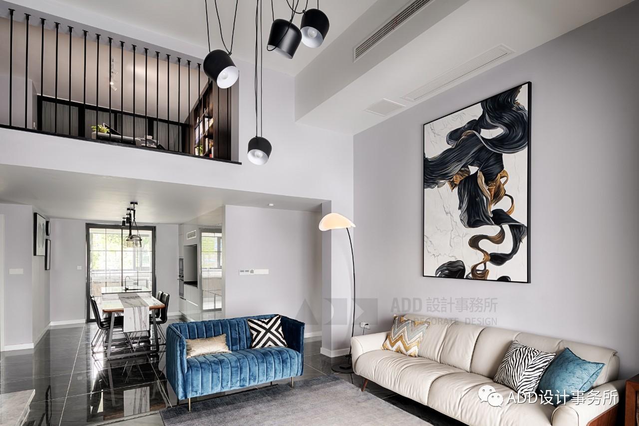 120㎡简约现代沙发墙装修效果图