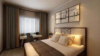 现代中式风格卧室装修注册送300元现金老虎机图
