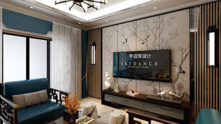 中式风格电视背景墙装修效果图