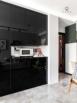 60㎡現代一居室裝修西櫥柜設計
