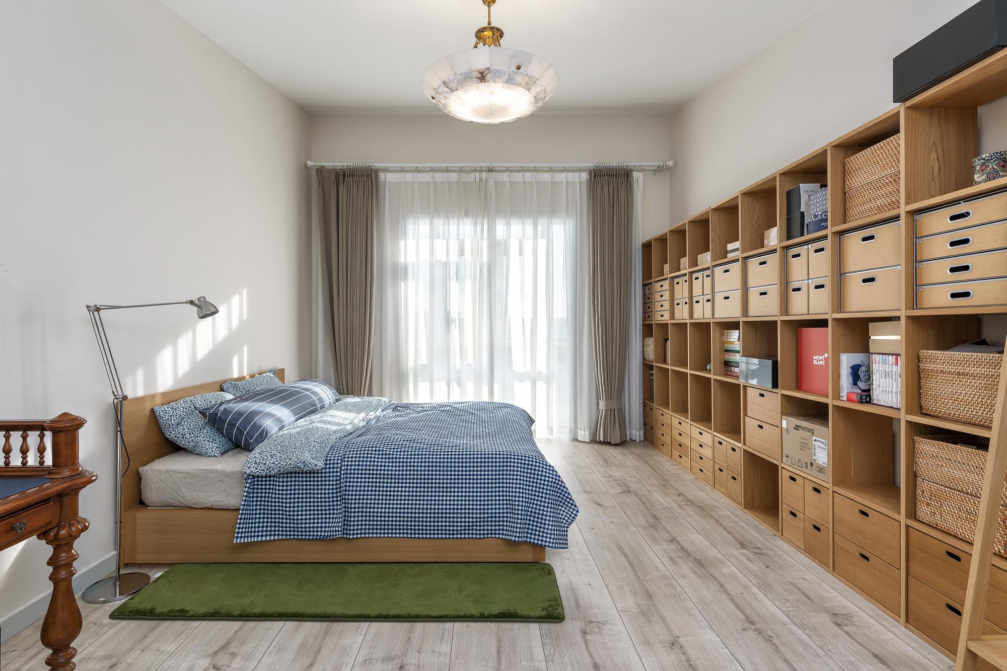 复式现代美式风格卧室装修效果图