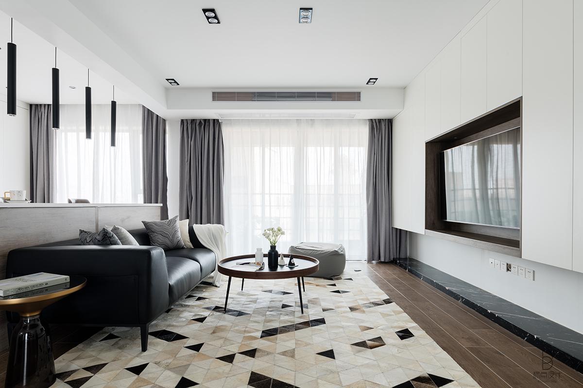 现代简约风格三居室客厅装修效果图