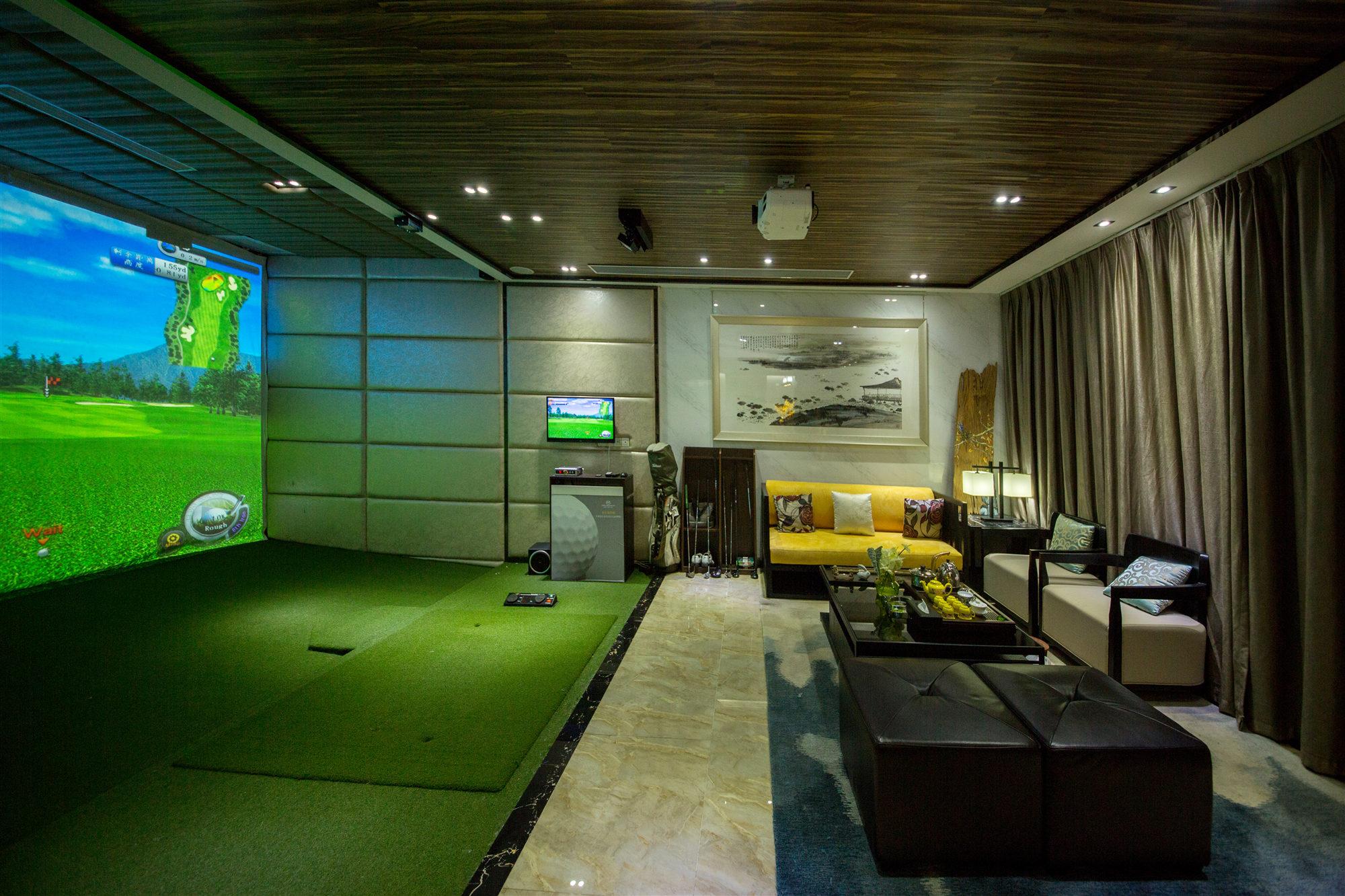 新中式风格别墅娱乐室装修效果图