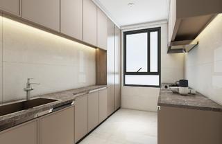 大户型现代风厨房装修效果图
