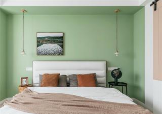 108平北欧风格卧室背景墙装修效果图