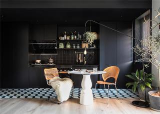 63平米一居室厨餐厅装修效果图