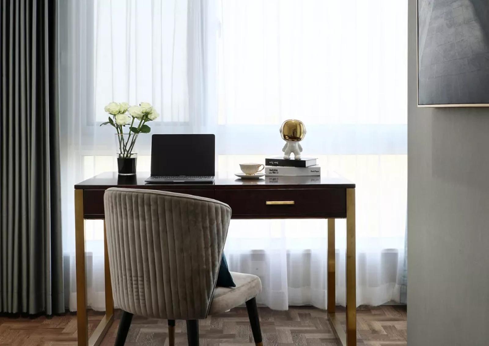 115㎡轻奢美式装修书桌设计图
