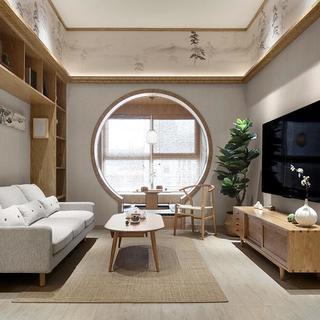 105㎡日式三居装修效果图