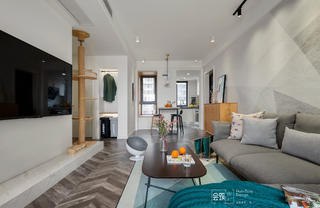 78平米两居室客厅装修效果图