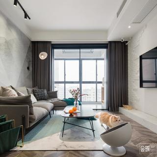 78平米两居室装修效果图