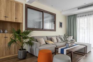 116㎡日式北欧风沙发墙装修效果图