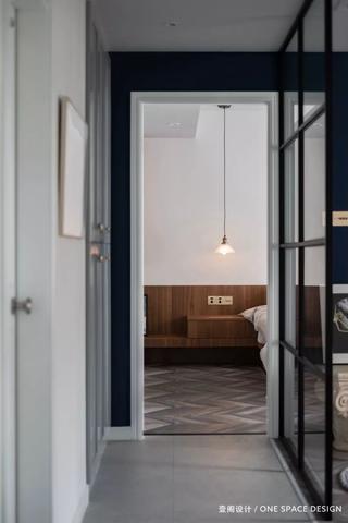 106㎡现代两居卧室走廊装修效果图