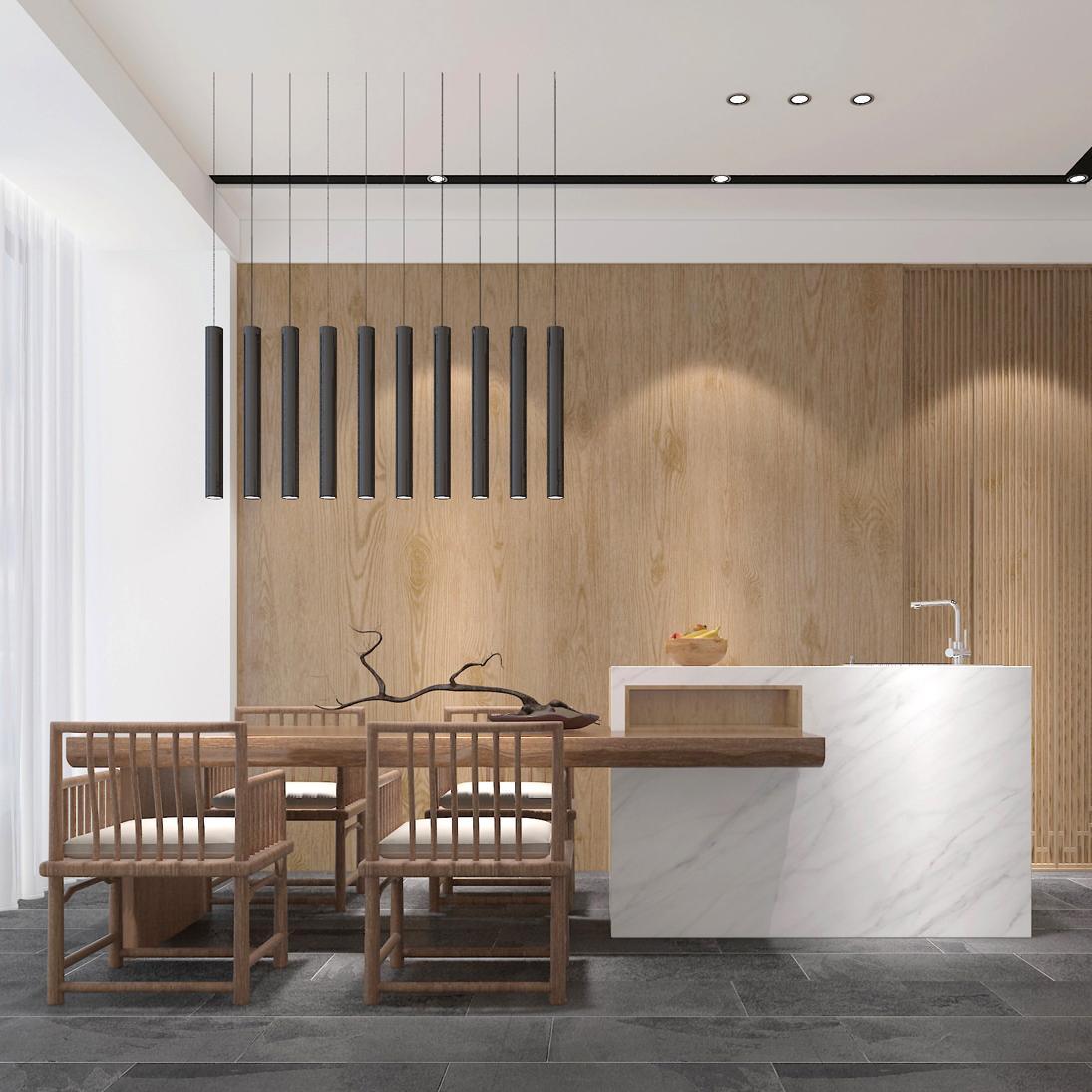现代中式风格别墅装修效果图