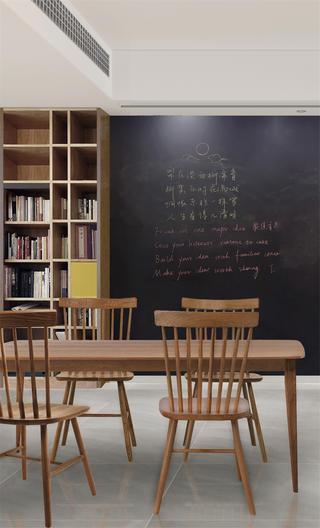 北欧风格二居装修餐厅黑板墙设计