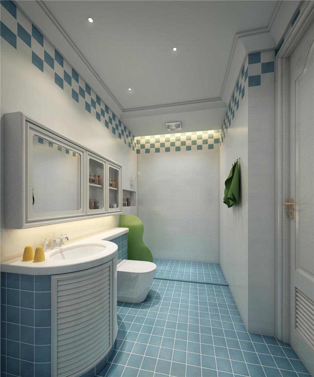 美式风格别墅儿童卫生间装修效果图