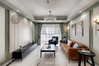 中美混搭二居客厅装修效果图