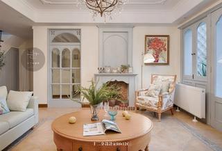 法式乡村别墅客厅装修效果图