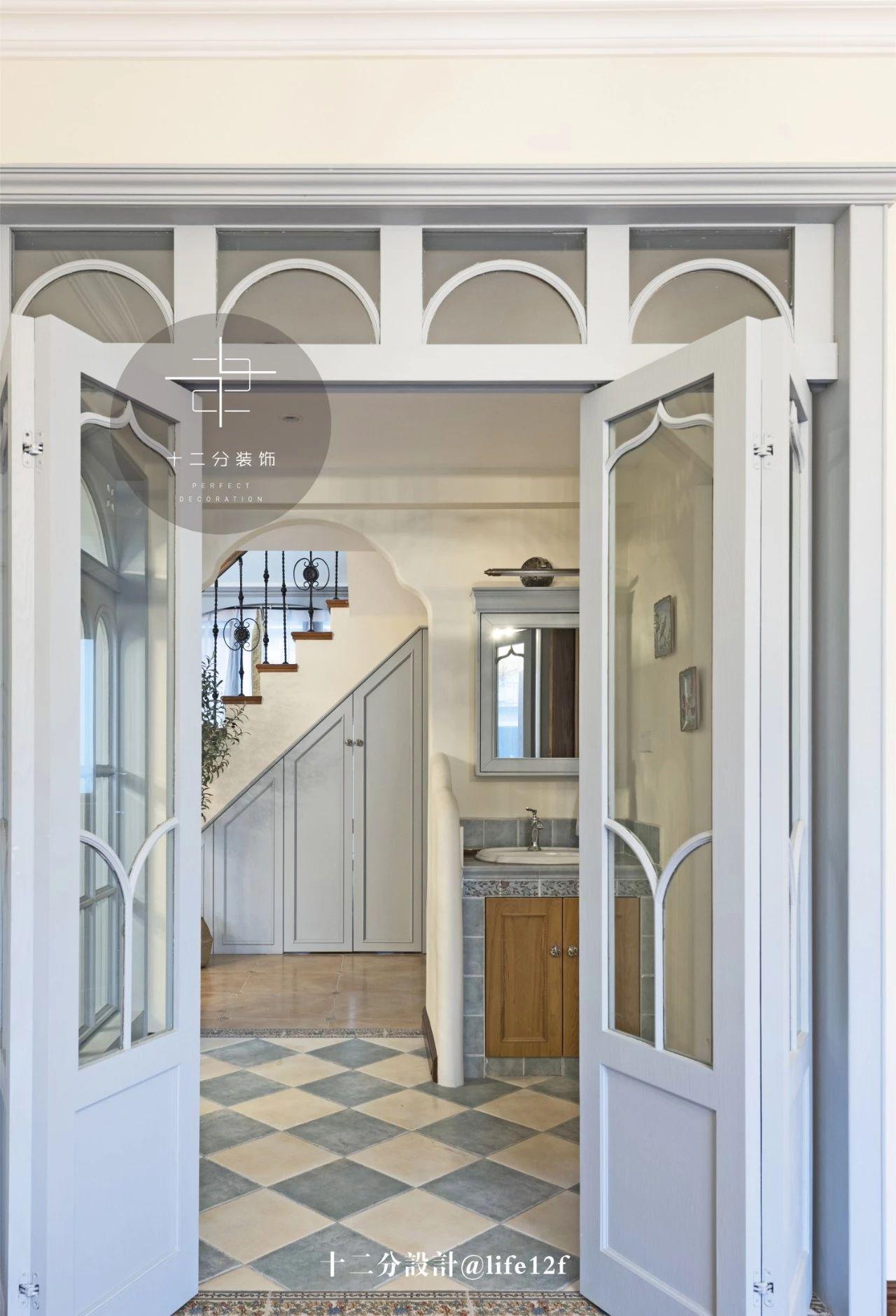 法式乡村别墅装修折叠门设计