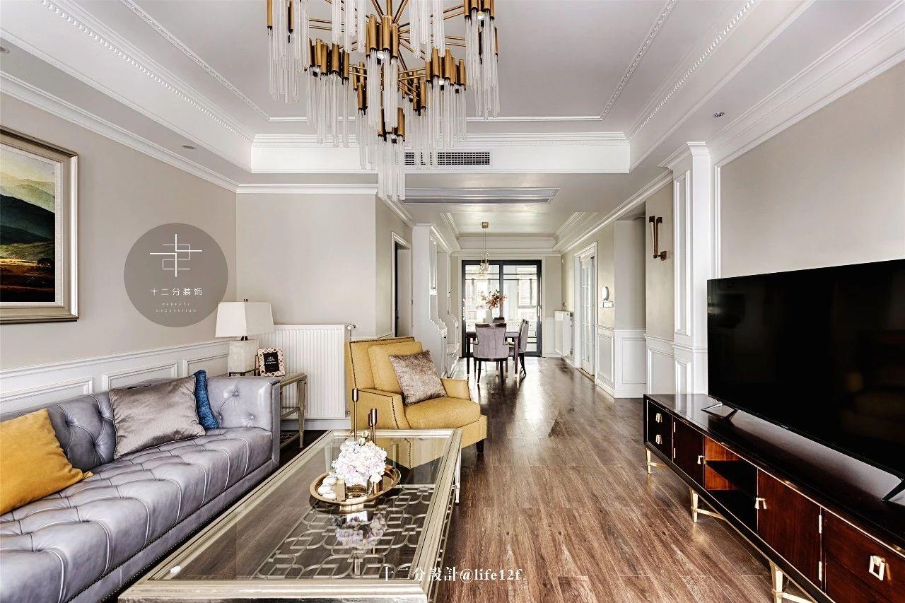 150平美式风格客厅装修效果图